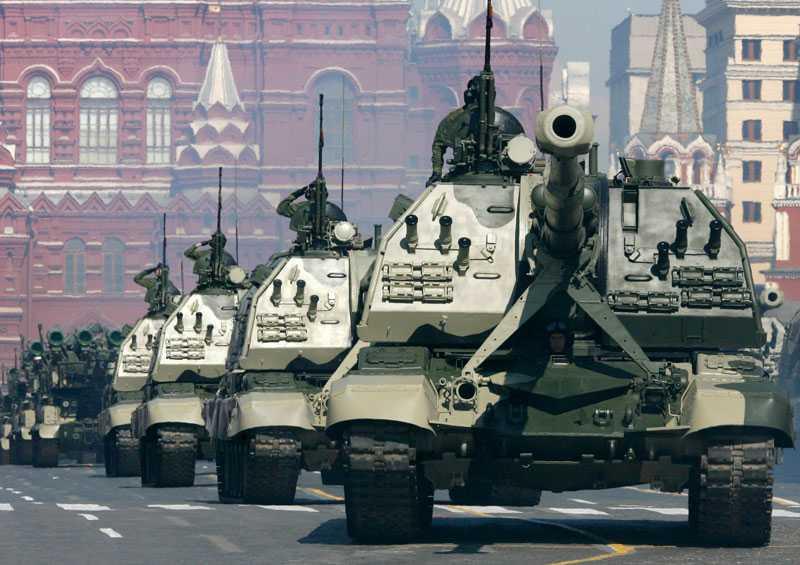 Ryssland visar musklerna.