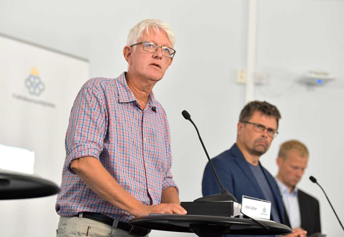 """""""Munskyddsfrågan är inte död"""", säger Johan Carlson, Folkhälsomyndighetens generaldirektör."""
