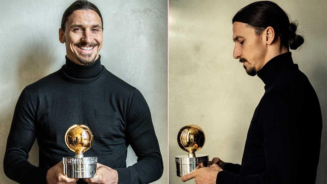 Sportbladet delade ut Guldbollen till Zlatan i Milano.