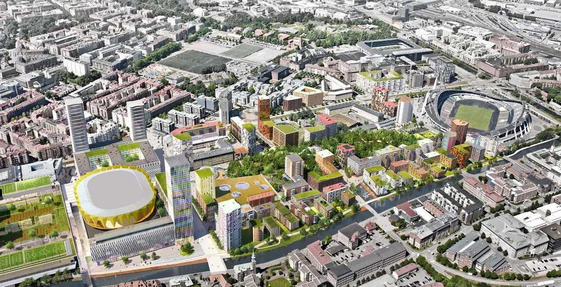 """Förslaget från privata byggkonsortiet """"Plats för Göteborg"""" bildat av åtta bygg- och fastighetsbolag."""
