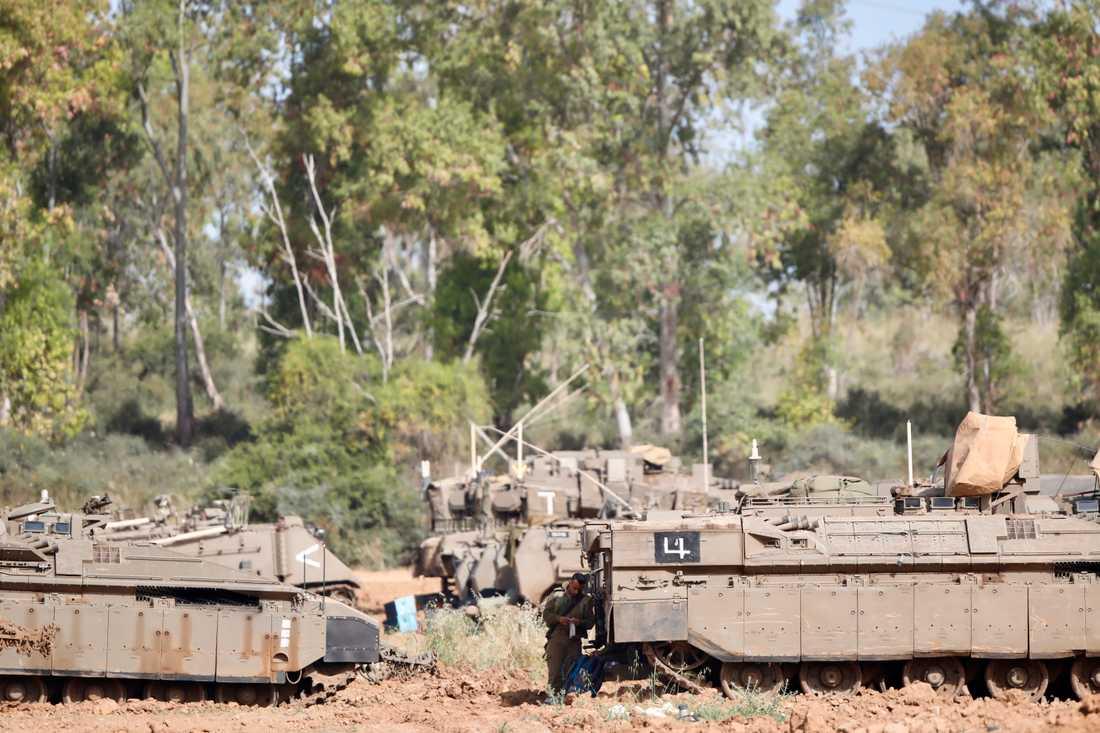 En israelisk soldat vid gränsen mot Gaza. Bilden har ingen koppling till händelserna i texten. Arkivbild.
