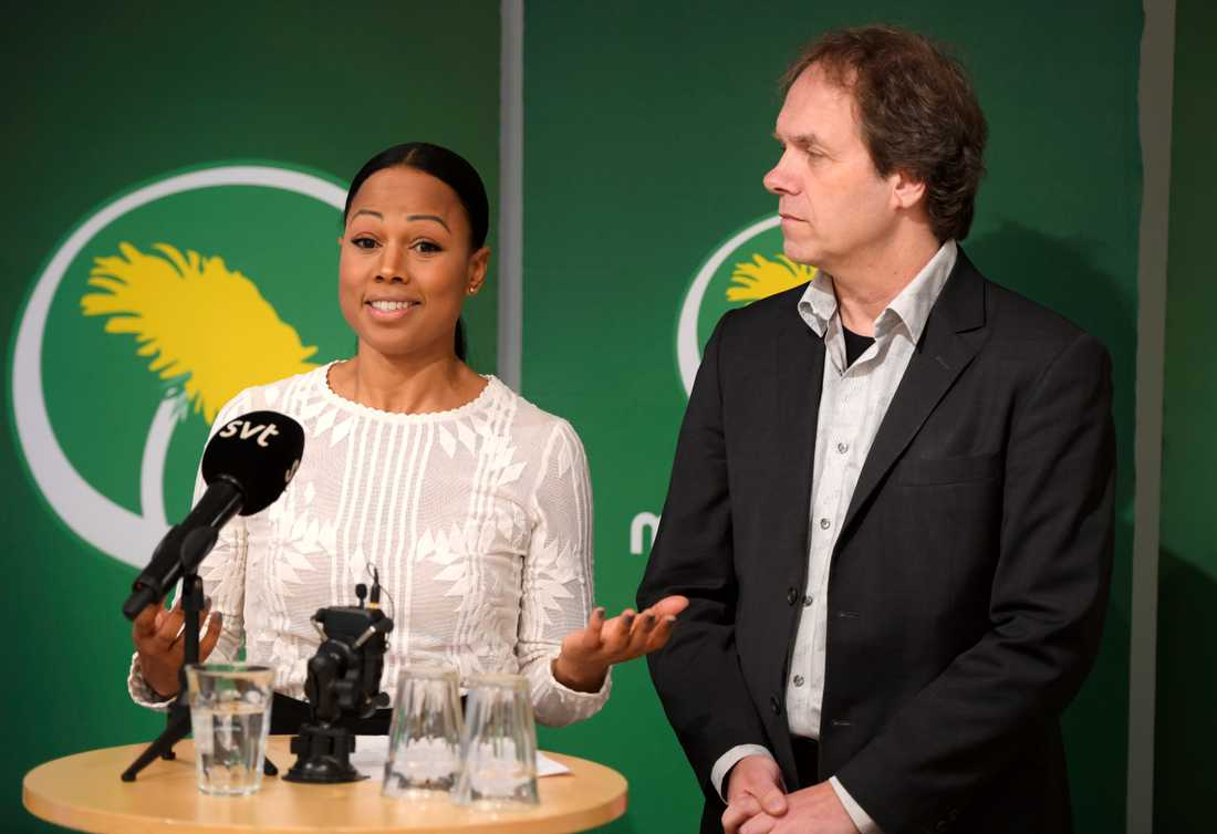 Alice Bah Kuhnke (MP) och Pär Holmgren (MP) kandiderar båda till EU-parlamentet i EU-valet i maj. Arkivbild.
