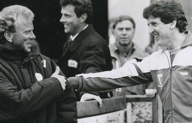 Roy Hodgson tillsammans med Bob Houghton 1987.