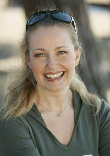 Yvonne Ryding tar ofta en snabb promenad före frukost.