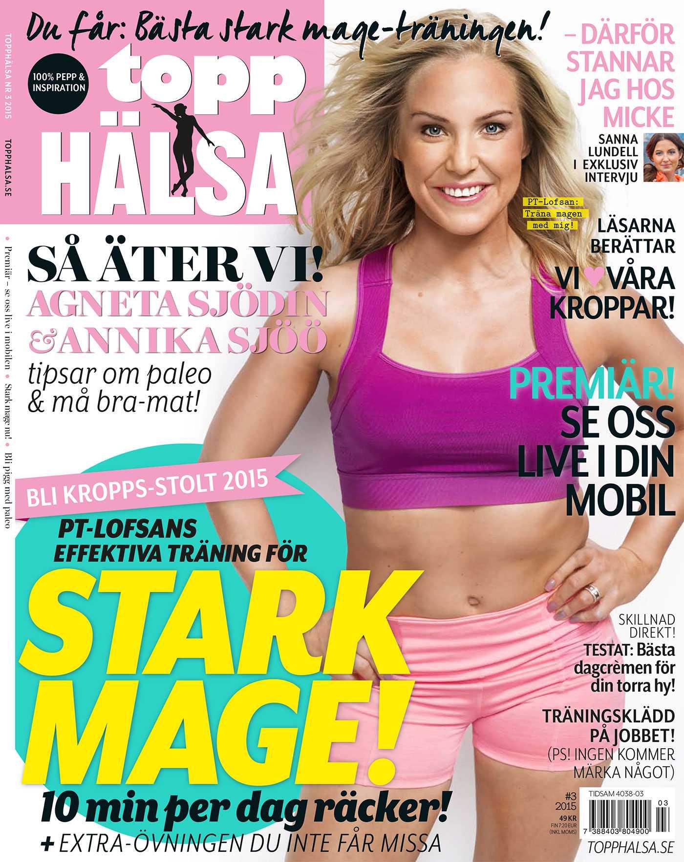 Omslaget till tidningen Topphälsa.