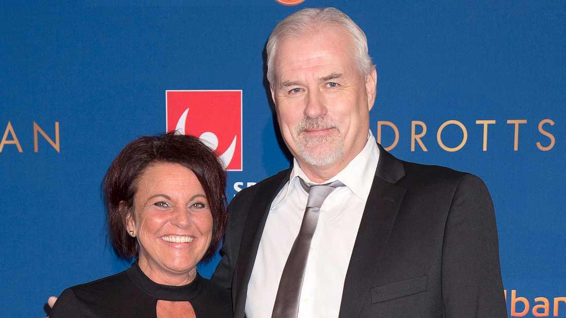 Glenn Hysén och fästmön Camilla Lendott.