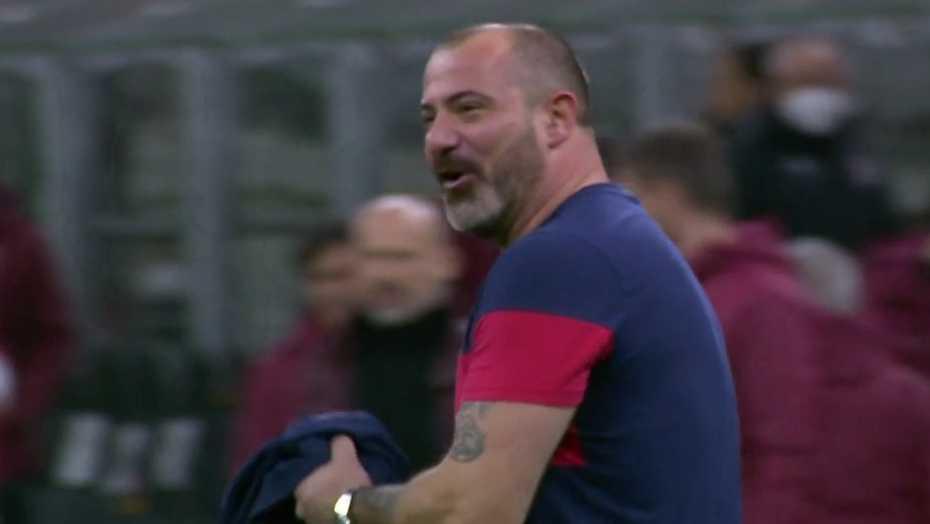 En besviken Dejan Stankovic efter att Röda Stjärnan rånats (?) på slutsignal.