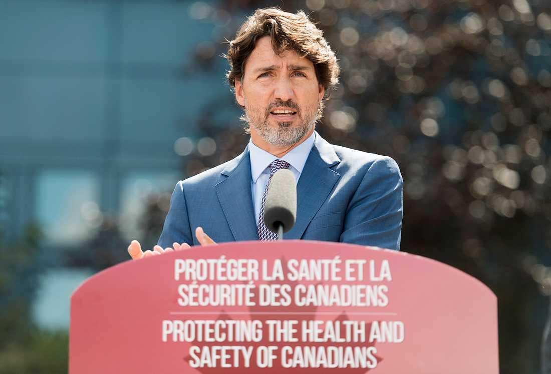 Kanada premiärminister Justin Trudeau lanserar ett ambitiöst politiskt program för att bekämpa coronakrisen. Arkivbild.