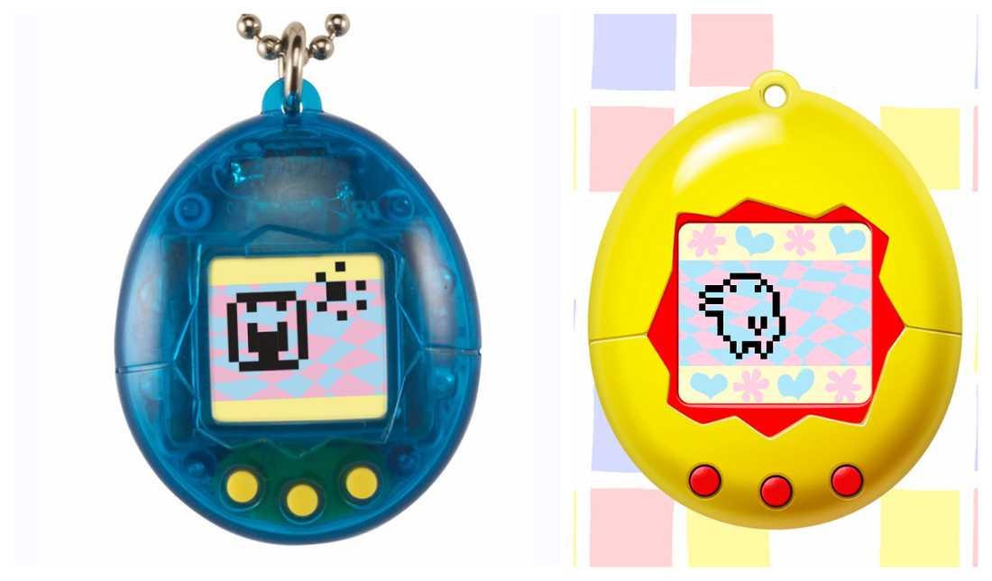 Den nya Tamagotchi jämfört med den förra versionen till höger.