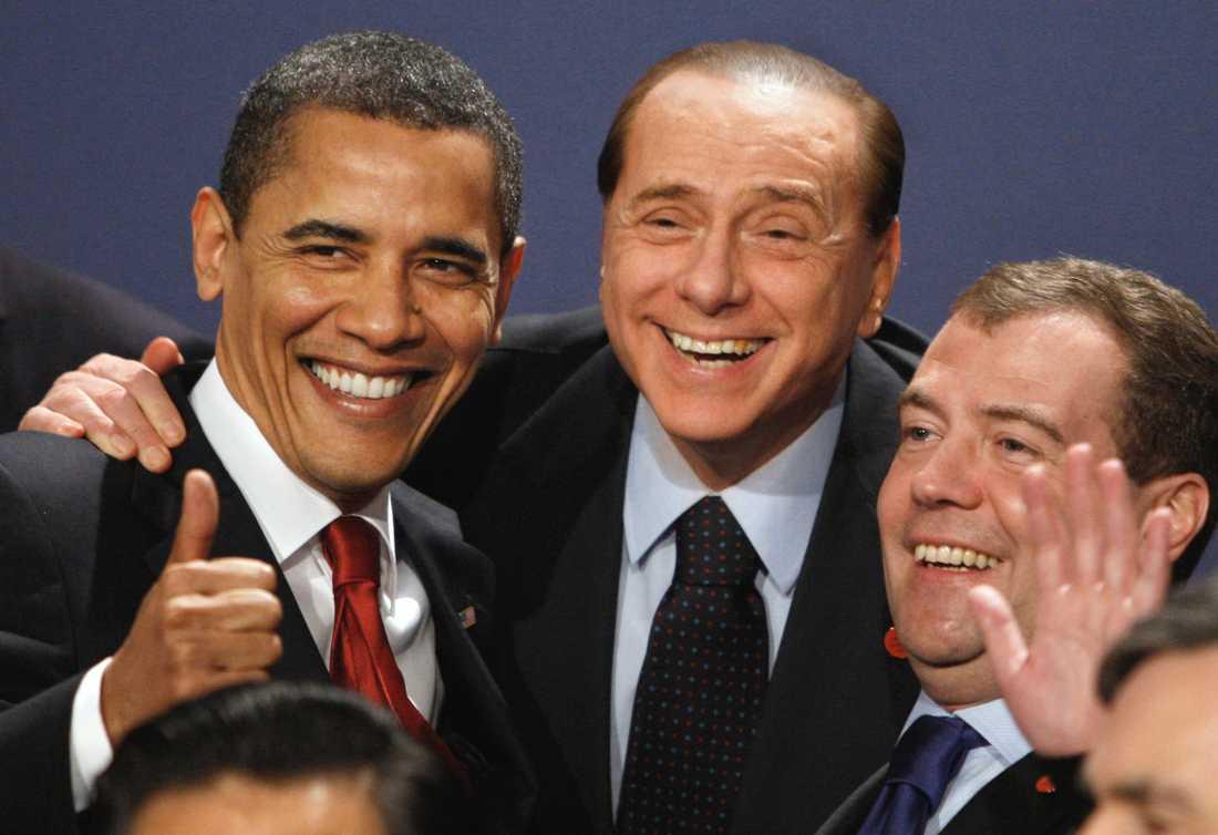 Med USA:s Barack Obama och Rysslands Dmitrij Medvedev.