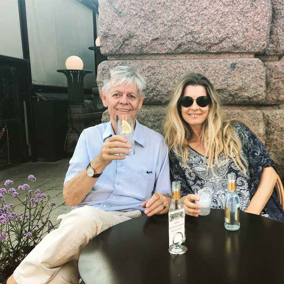 Pernilla Andersson Dregen med sin pappa Kent Andersson, jazzmusiker och nu drabbad av alzheimer.