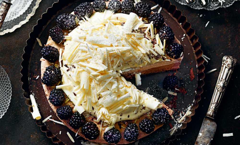 Frozen baileys- och vitchoklad cheesecake