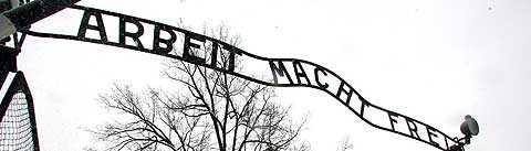 Ingången till förintelselägret Auschwitz. Foto: Scanpix