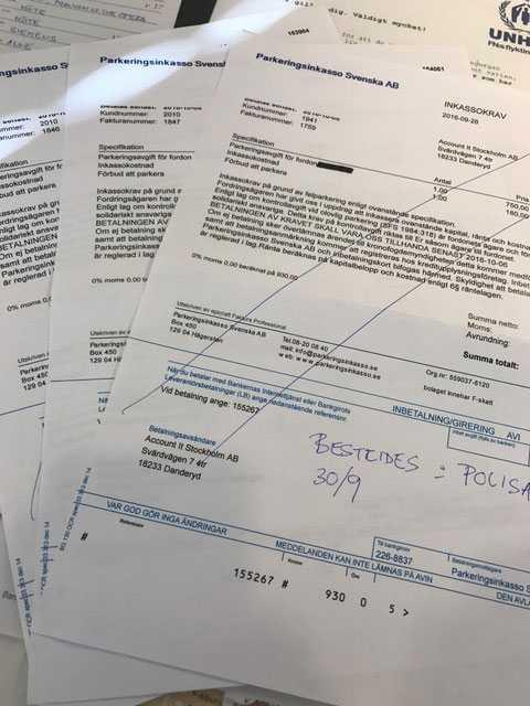 De falska inkassokraven gäller företagsbilar och är i samtliga fall på 930 kronor.