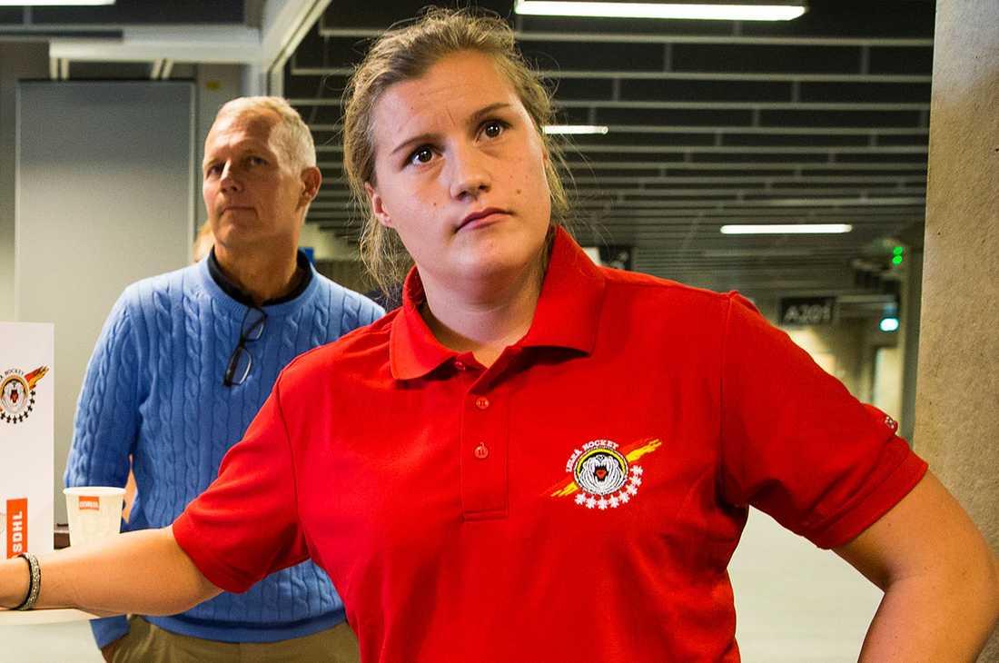 Emma Eliasson under upptaktsträffen för SDHL