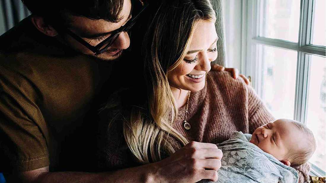 Hilary Duff, maken Mathew Koma och dottern Banks Violet Bair.