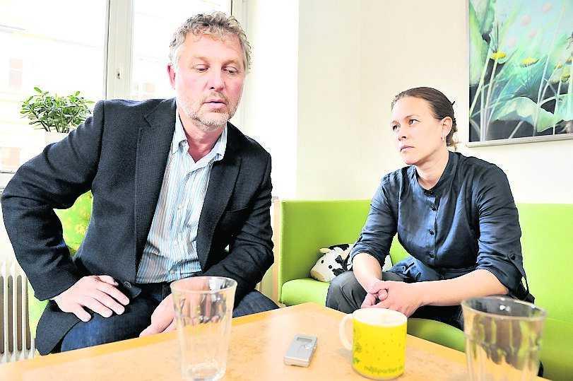 Peter Eriksson och Maria Wetterstrand i går.