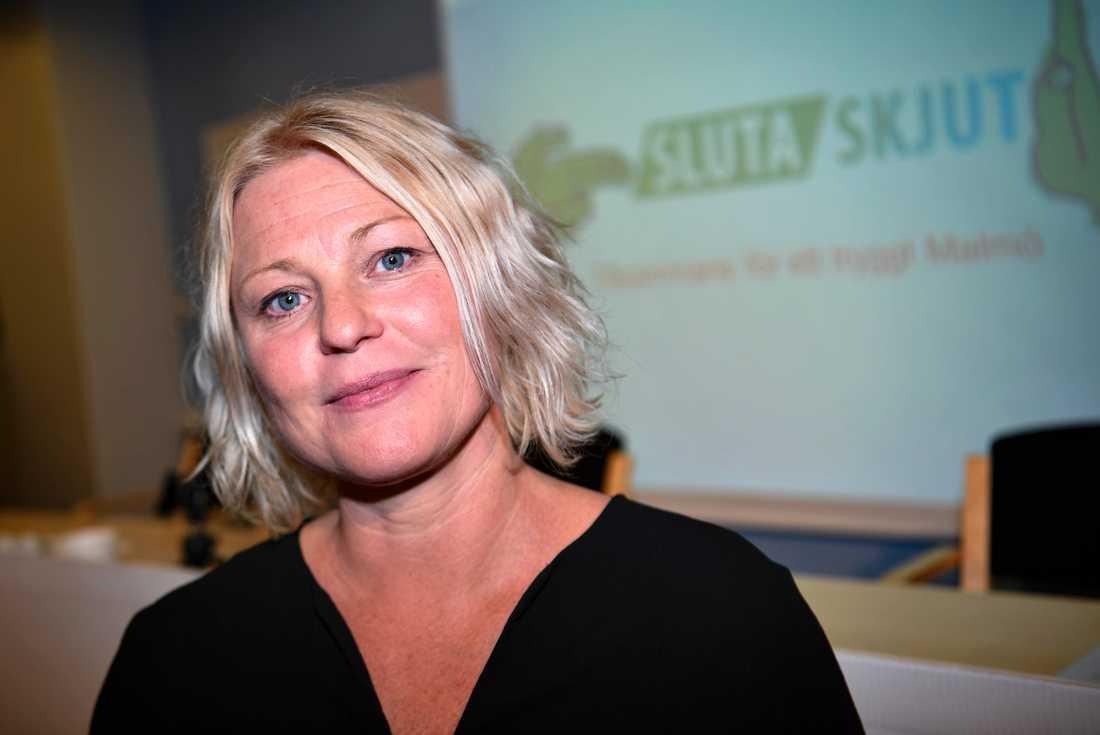 Anna von Reis, avdelningschef i Malmö stad och medlem i styrgruppen för Sluta skjut, när projektet presenterades 2018.