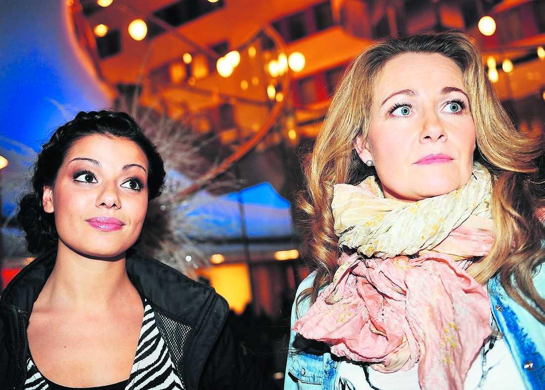 """Carin da Silva och Yvonne Ryding pratade ut i Nöjesbladet i går. """"Elisabet är inte den lättaste att arbeta med"""", sa Ryding om deras samarbete."""