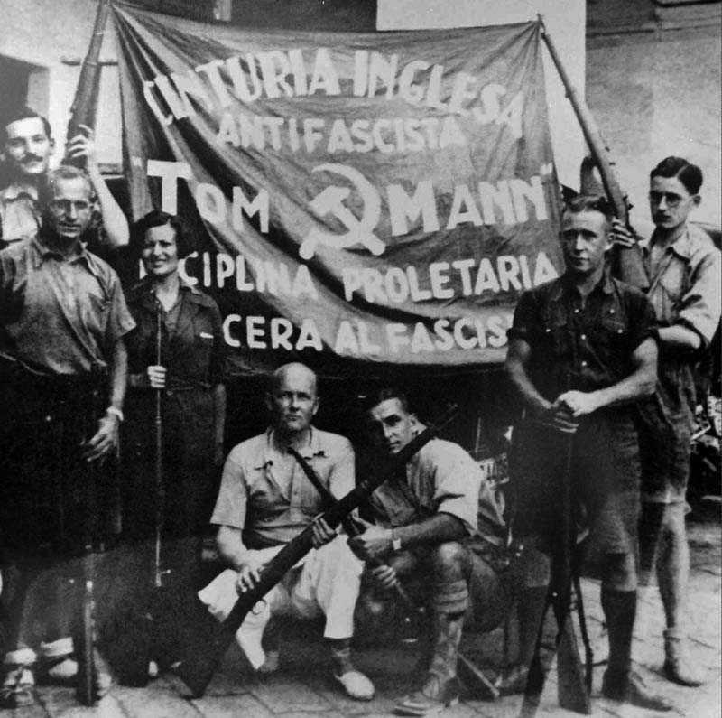 Det är i år 70 år sedan dett spanska inbördeskriget vanns av fascisterna med Franco i spetsen, vilken utropade sig själv till diktator. På bilden medlemmar ur Tom Mann-brigaden, en av många internationella brigader av frivilliga som stred på den folkvalda regeringens sida mot fascisterna.