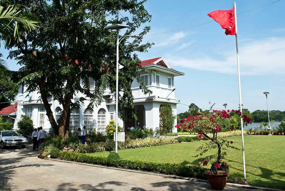 Aung San Suu Kyis hem vid Inya-sjön i centrala Rangoon.
