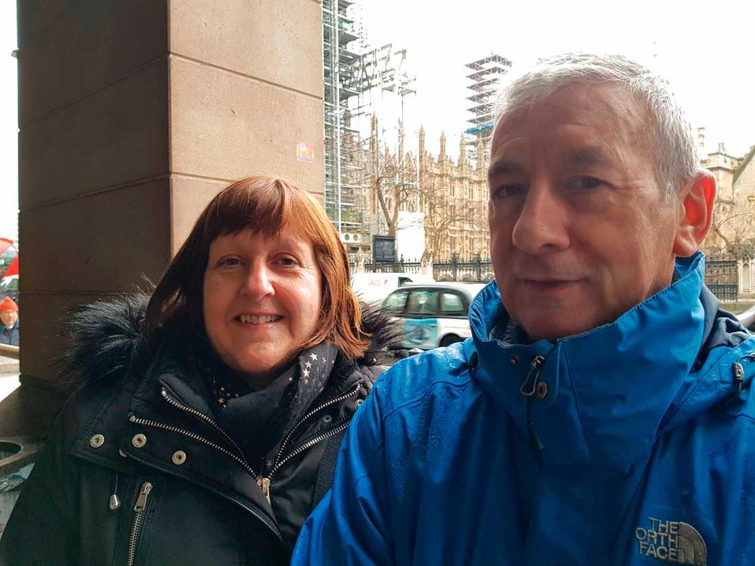 Steven Warburton och Helen Scragg från Chesire anser att sjukvårdssystemet är en av valets viktigaste frågor.