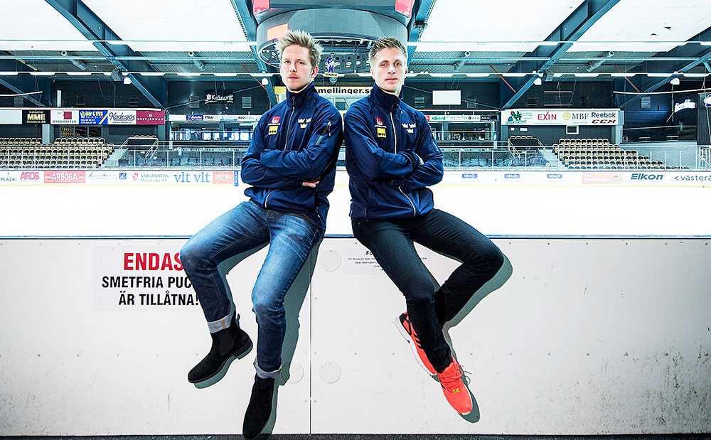 Tim Heed och Marcus Sörensen –redo för debut i Tre Kronor.