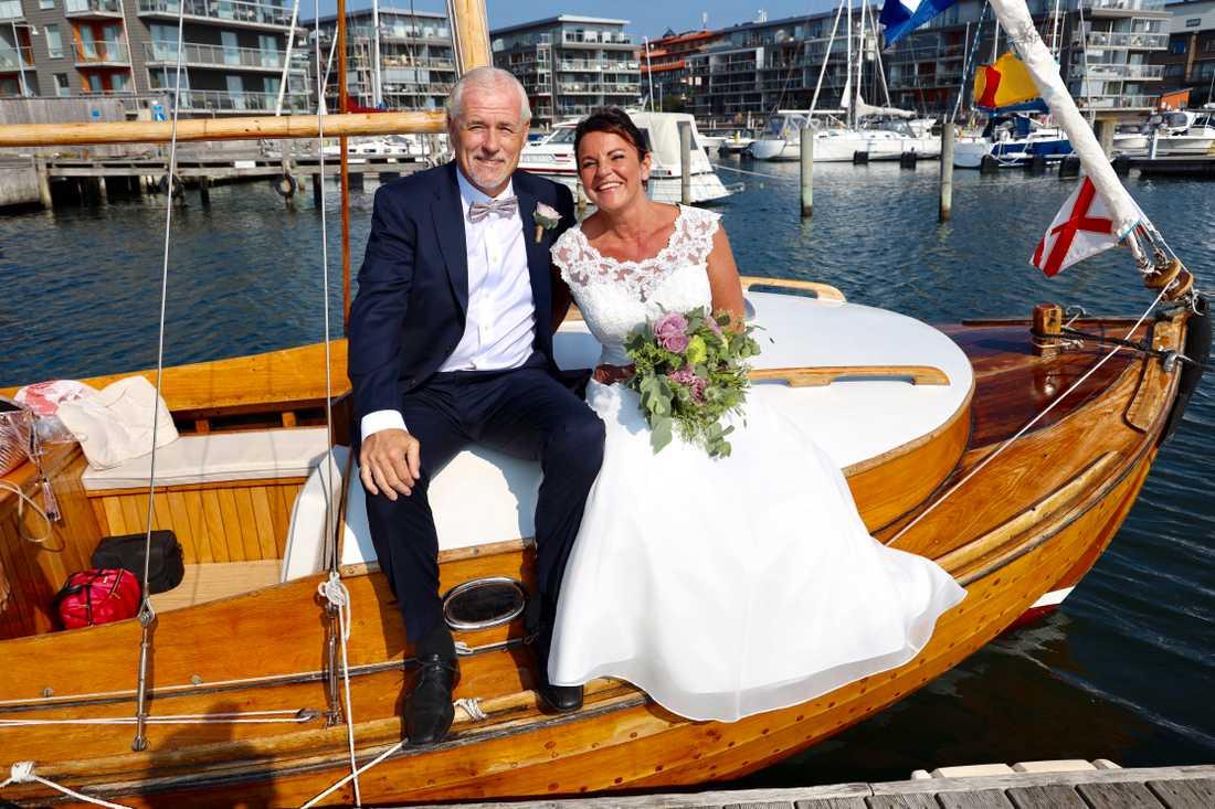 Glenn Hysén och Camilla Lendott Hysén sa ja till varandra för ett år sedan.