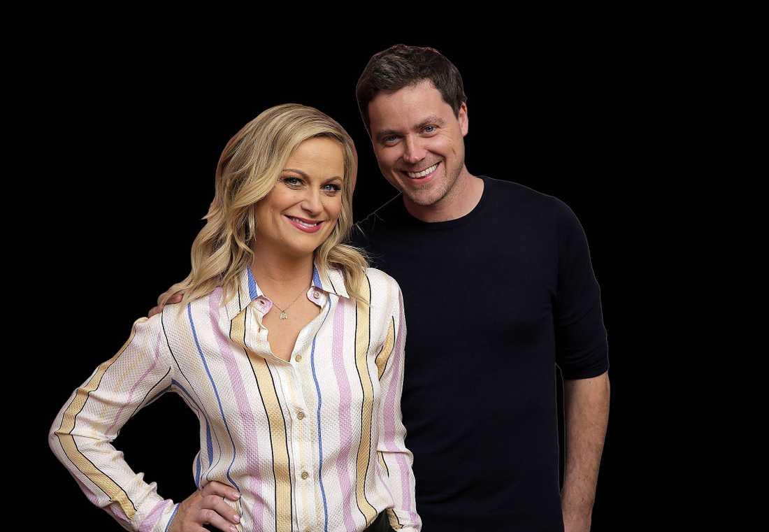 Syskonen Amy och Greg Poehler.