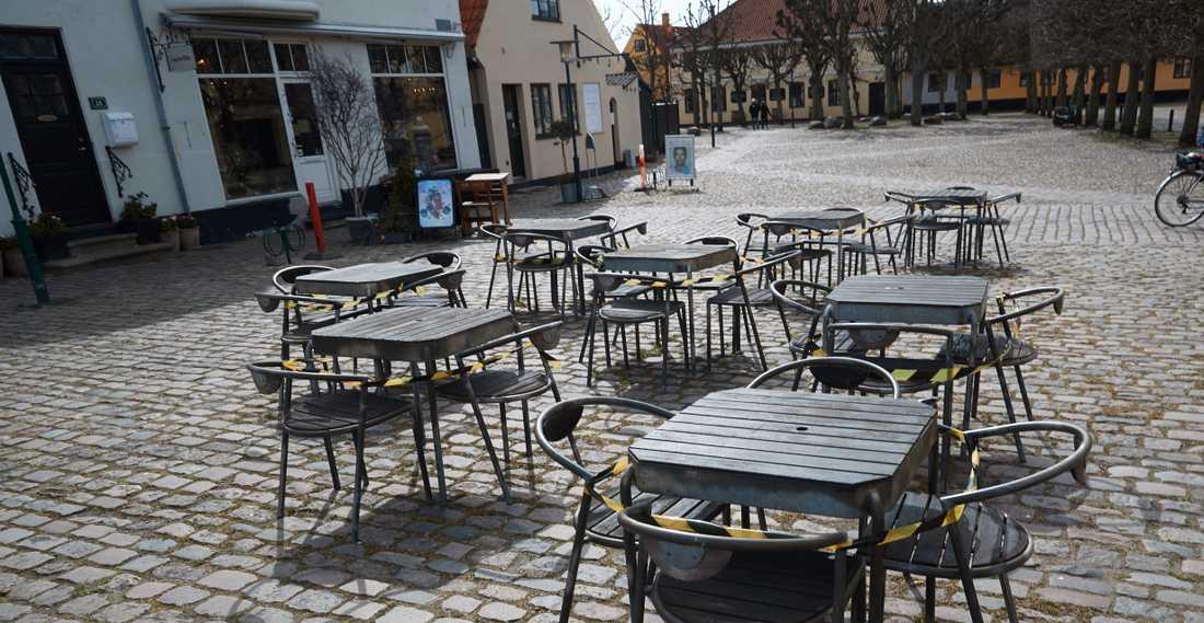 Danska restauranger får vänta ytterligare med att öppna. Bild från Dragör tidigare i veckan.