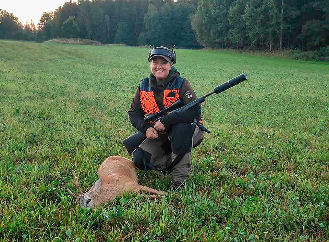 Åsa Berggren tog sin jagarexamen i somras.