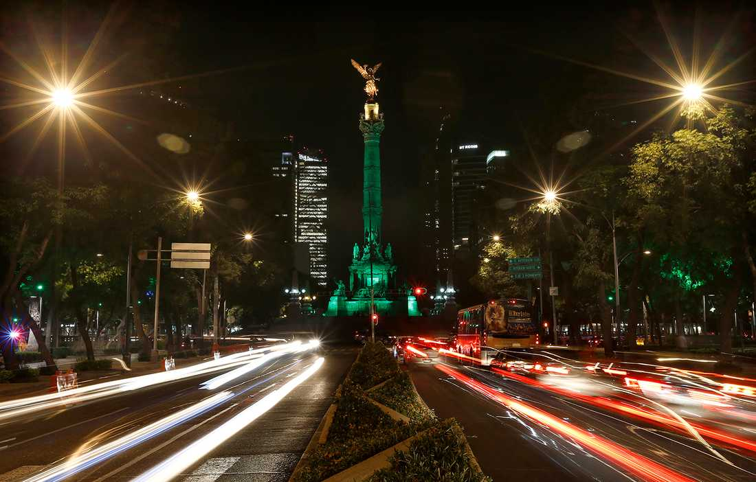 Monumentet Angel of Independence, Mexico City,