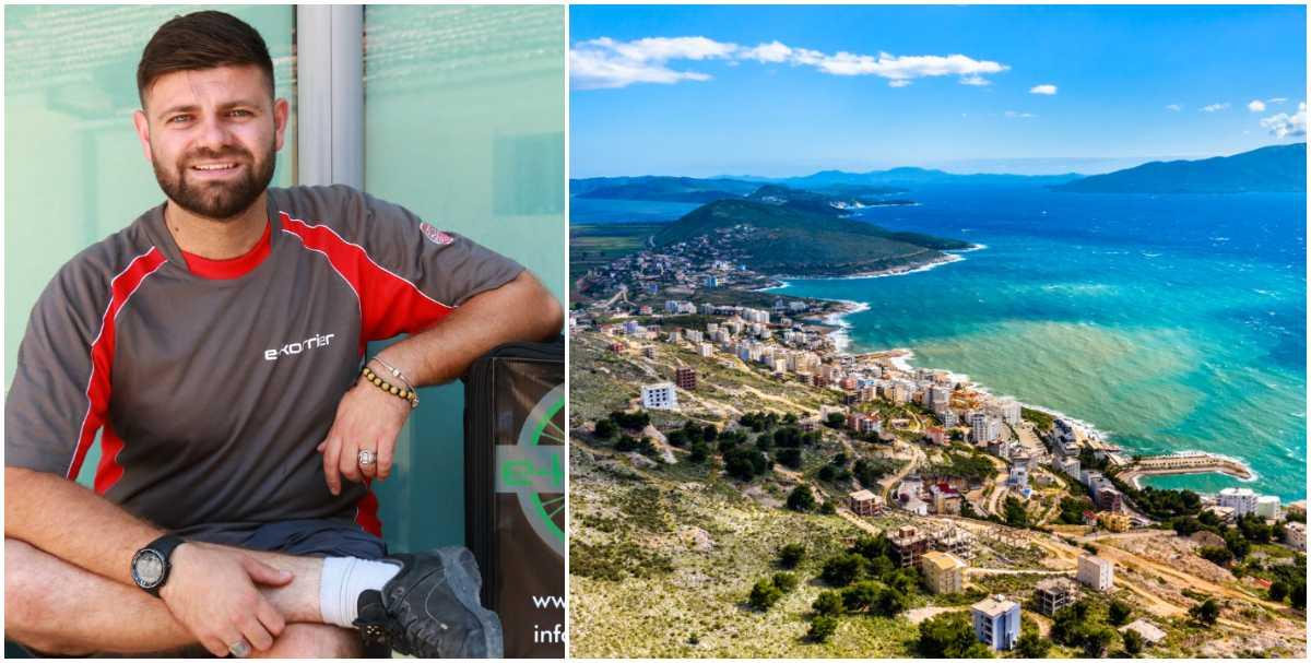 Alban Laci bor i Albanien, och driver bland annat en cykelbudsfirma.