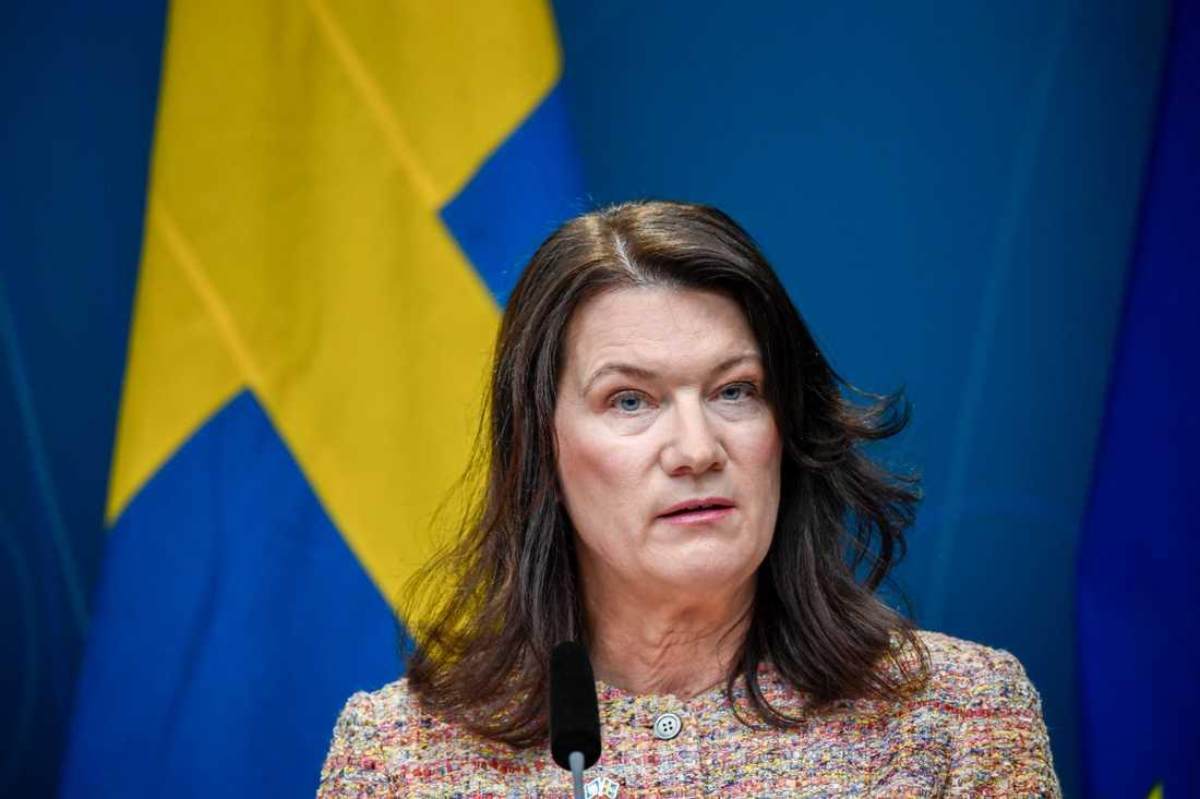 Det finns inte fog för att särbehandla Sverige när länder åter igen öppnar sina gränser, tycker utrikesminister Ann Linde (S). Arkivbild.