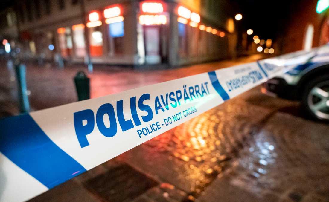 Polisen på plats i Lund.