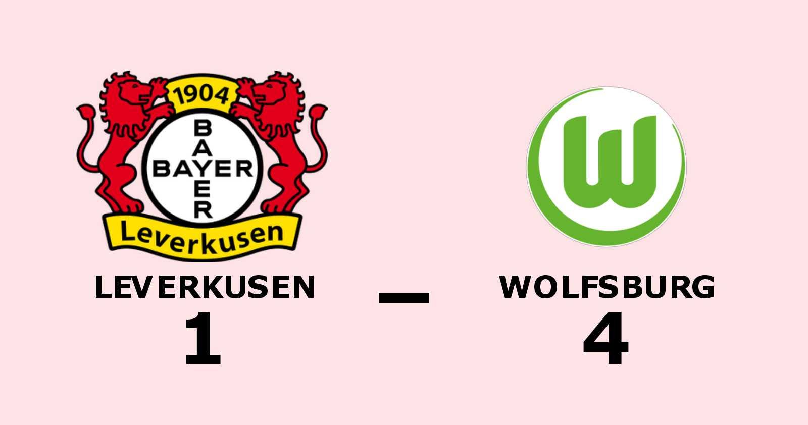 Pongracic gjorde två mål när Wolfsburg vann mot Leverkusen