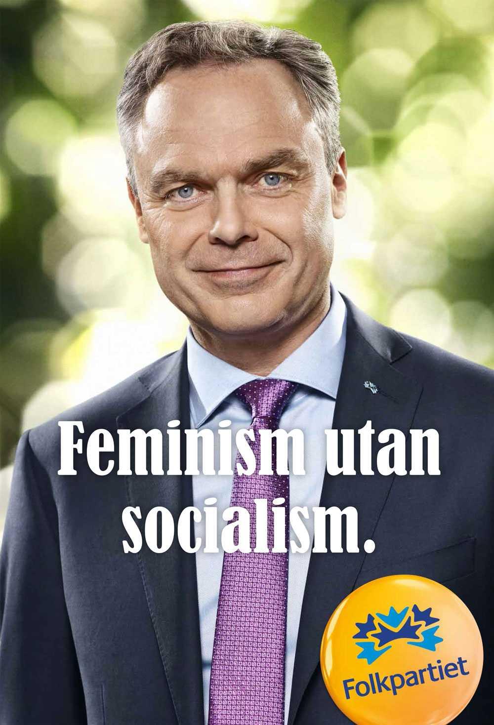 """++++ (4 plus) Henrik Torehammar: FP har en klassisk grafisk profil. Erik Ullenhags """"Ja till invandring, Nej till rasism"""" känns ännu mer klassisk Bengt Vetbästerberg-liberalism."""