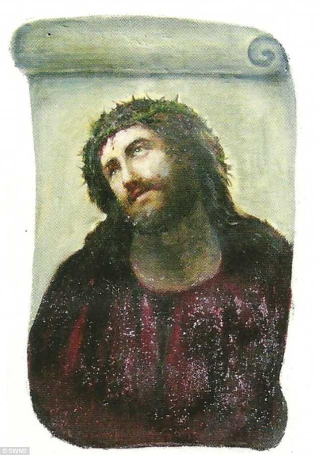 Jesustavlan som den såg ut innan skadan 2010.