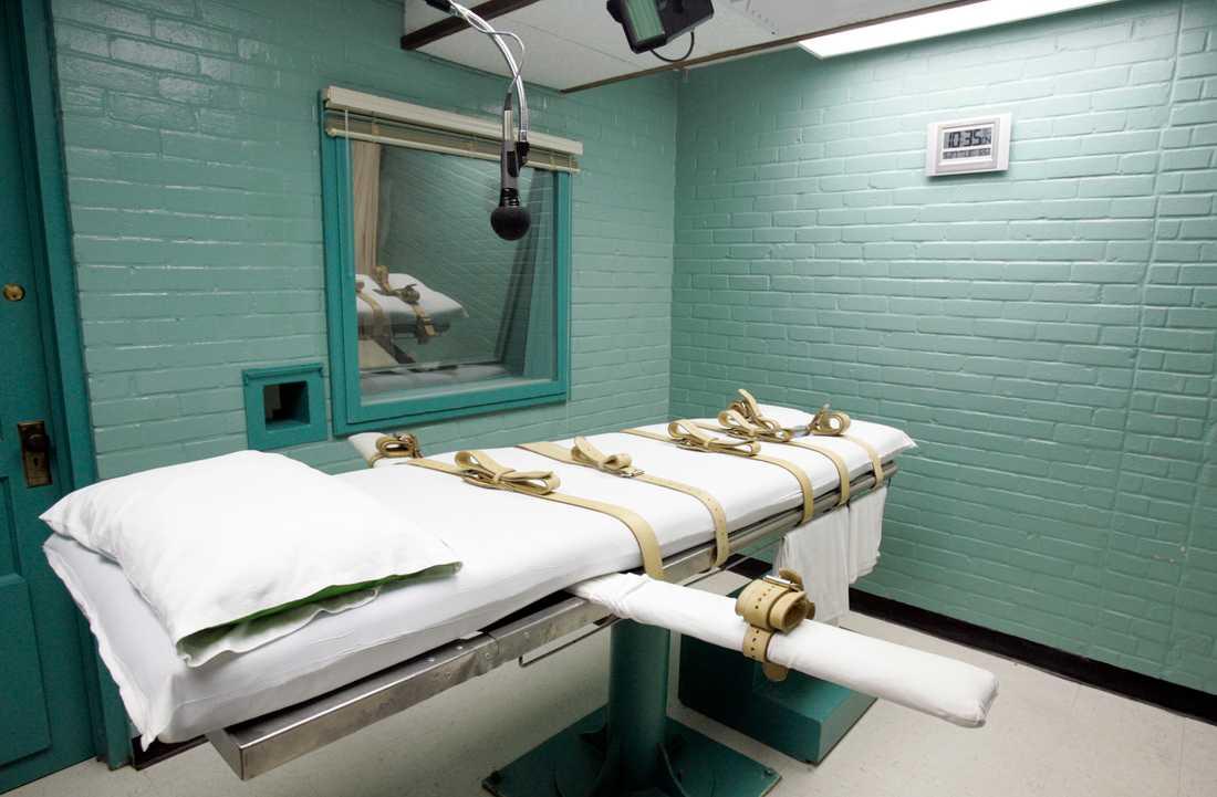 Ett avrättningsrum i Texasstaden Huntsville i USA. Arkivbild.