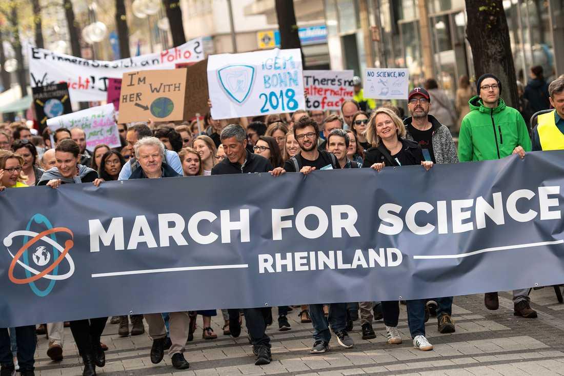 Även i tyska Köln manifesterades stöd för vetenskapen.