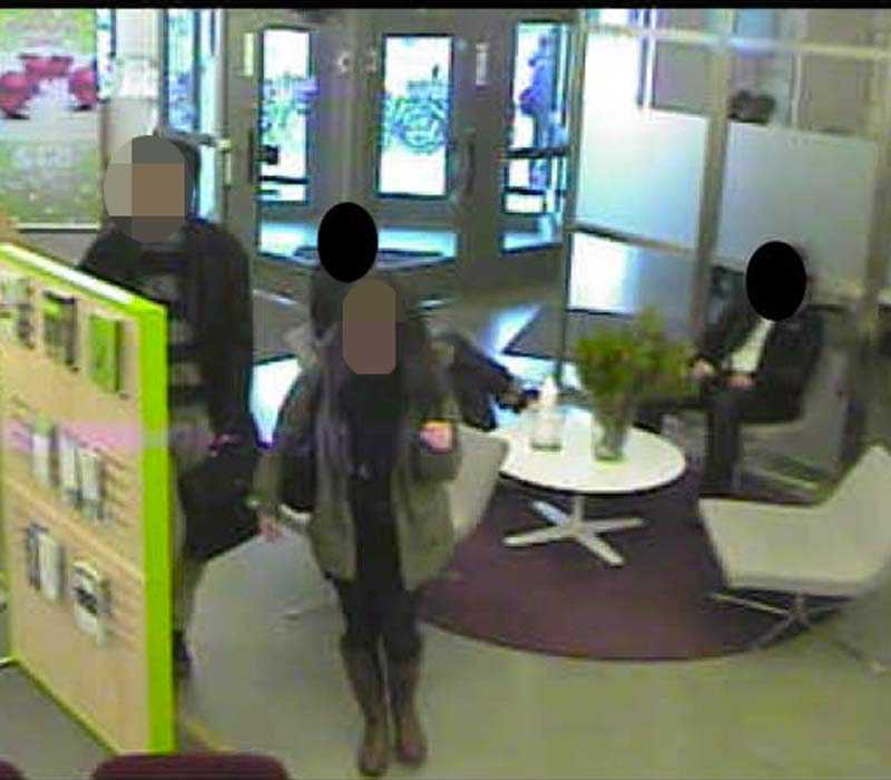 Två av de misstänkta på SEB den 16 december 2011.
