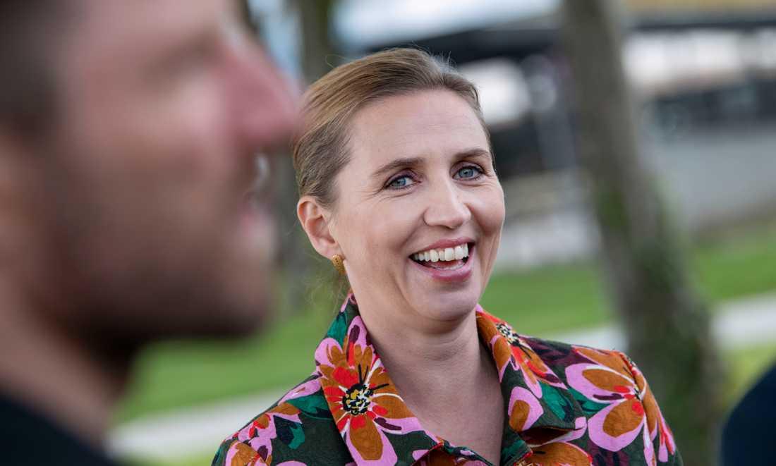 Blir Mette Frederiksen, Socialdemokratiet, Danmarks nästa statsminister? Enligt opinionsmätningarna är det röda blocket störst inför onsdagens folketingsval. Arkivbild.