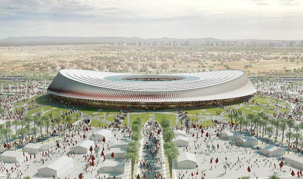 Finalarenan i Casablanca, om Marocko får VM 2016.
