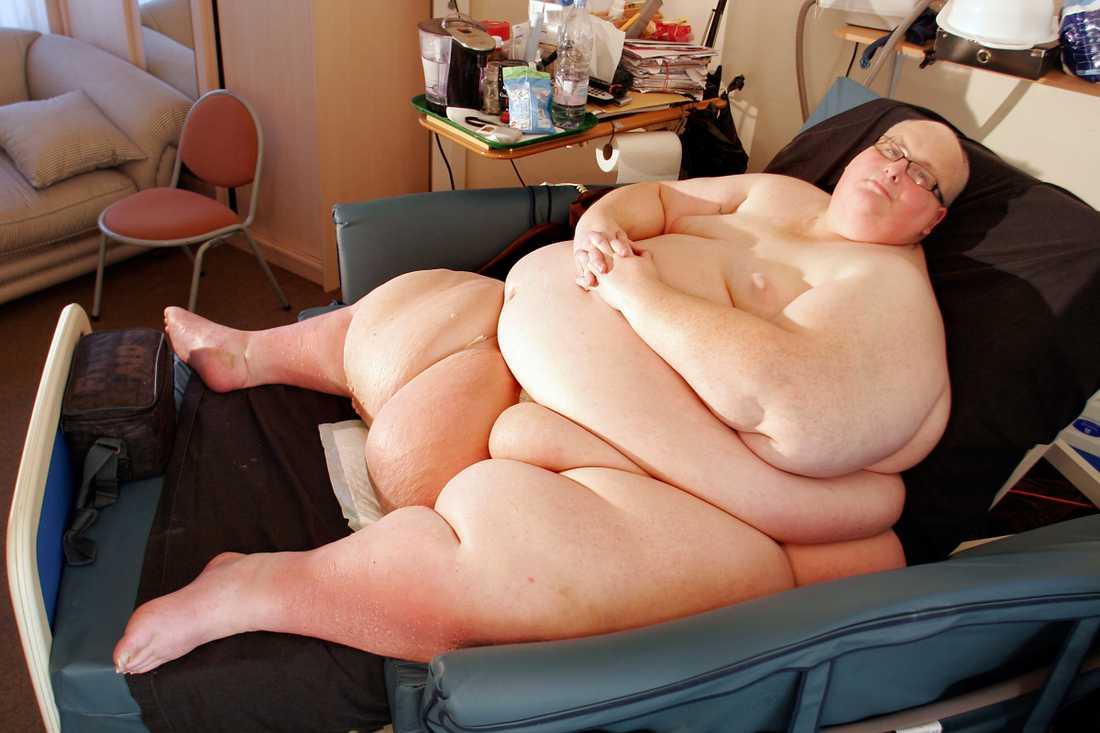 När han vägde som mest stannade vågen på 444,5 kilo
