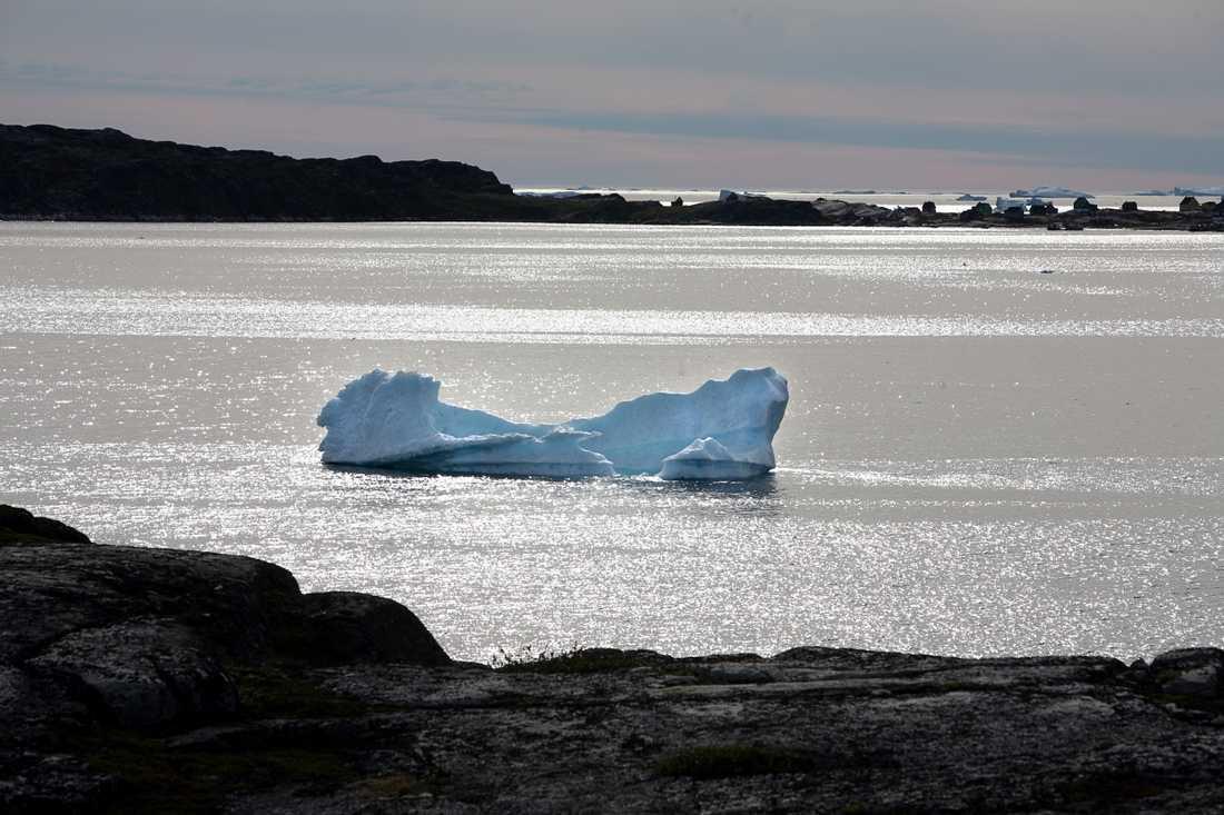 Vattnet på Grönland blir varmare.
