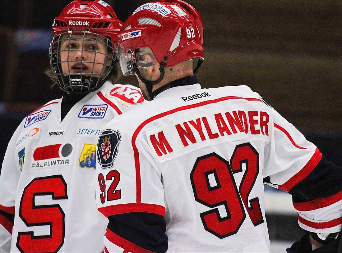 William Nylander – med pappa Michael.