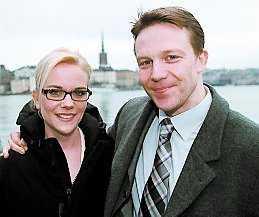 Challe Berglund med hustrun Tova.
