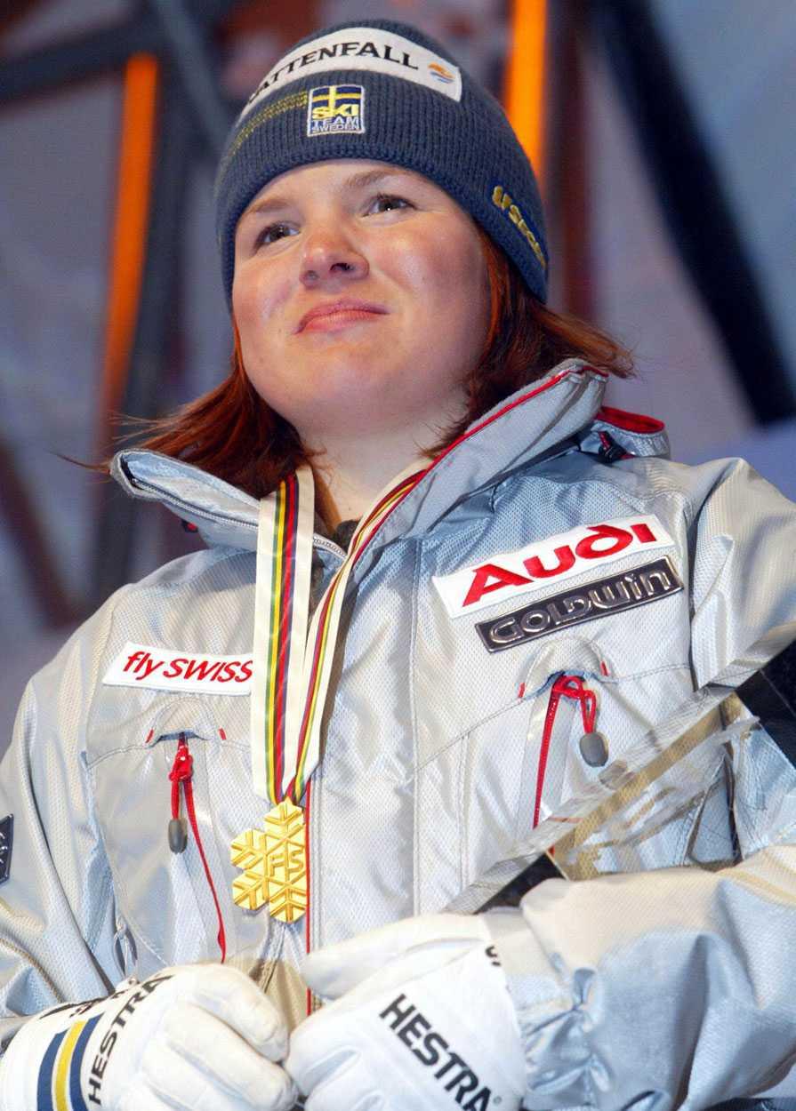 2003 I Sankt Moritz året därpå blir det ett nytt VM-guld, den här gången i storslalom.