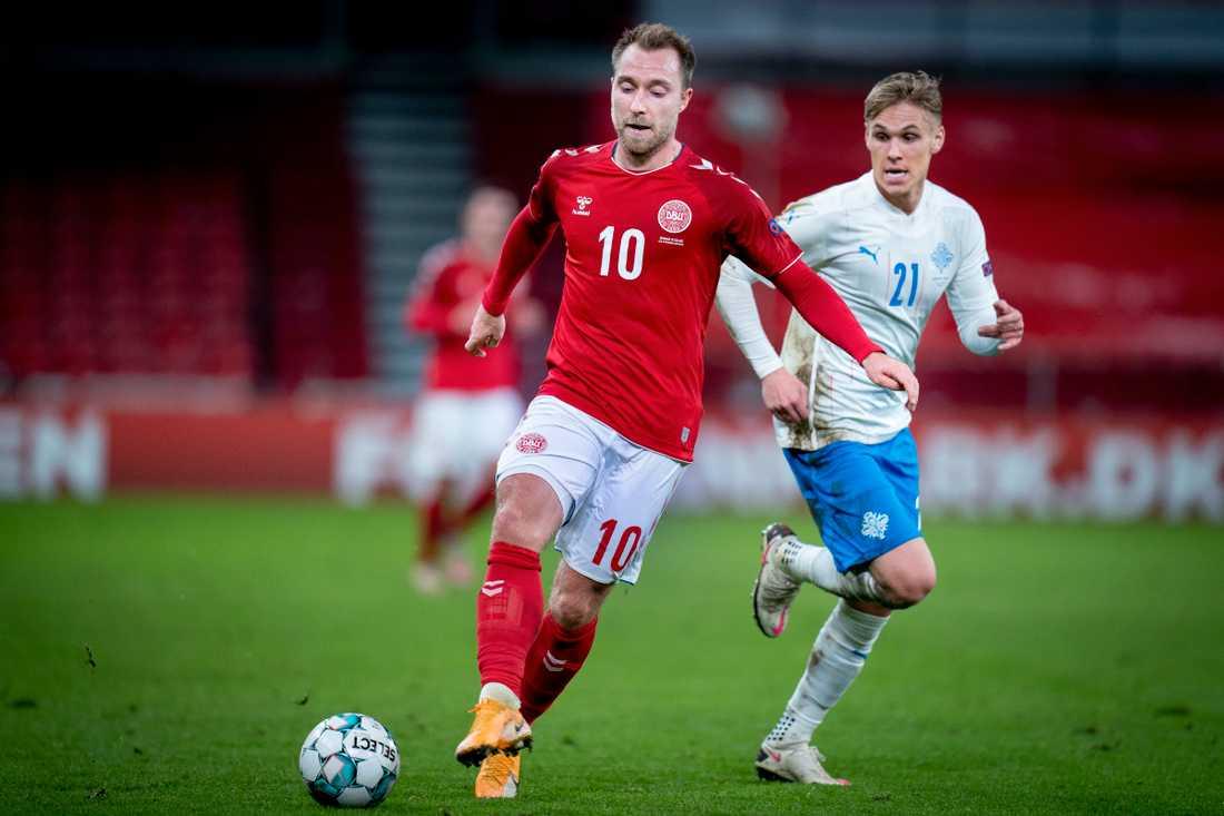 Christian Eriksen klev fram för Danmark.