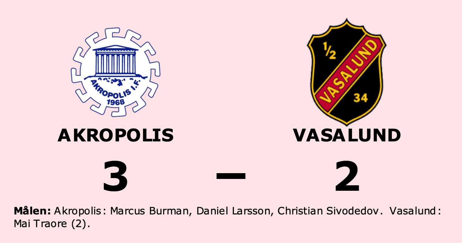 Vasalund föll i resultatmässigt jämn match